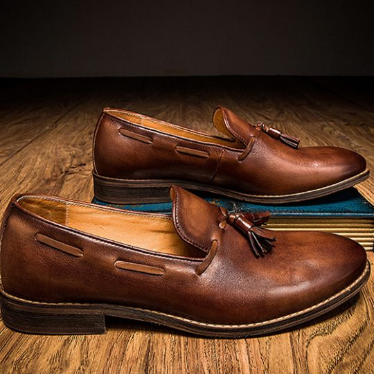 Tassel Loafers - Brown