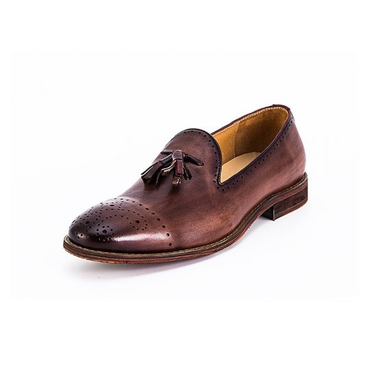 Tassel Broque Loafers - Brown