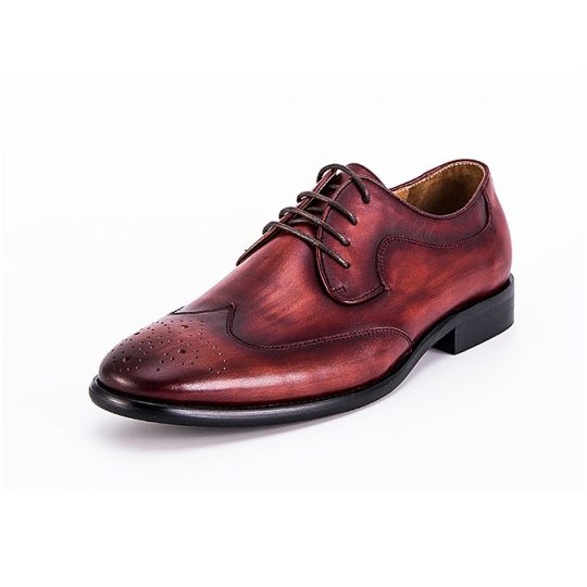 Brogue Derby with Perforations - Burgundy