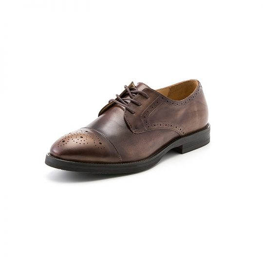 Brogue Derby with Perforations - Brown