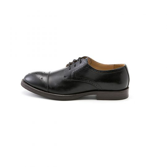Brogue Derby with Perforations - Black