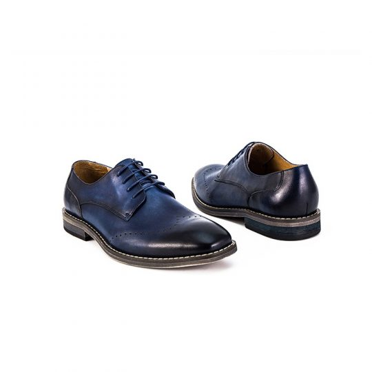 Brogue Simple Derby  - Blue