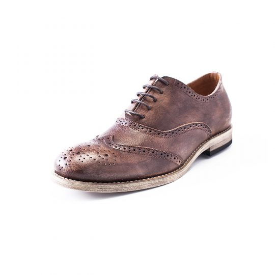 Medallion Brogue Oxford - Crispy Brown