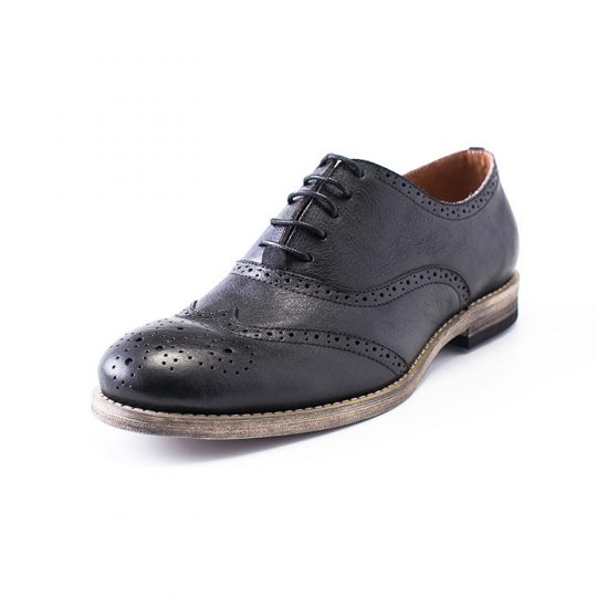 Medallion Brogue Oxford - Crispy Black