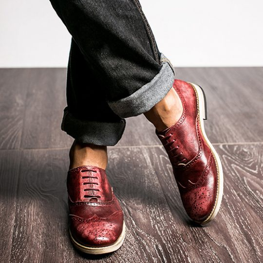 Medallion Brogue Oxford - Crispy Burgundy