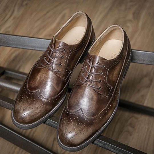 Brogue Wingtip Derby  - Brown