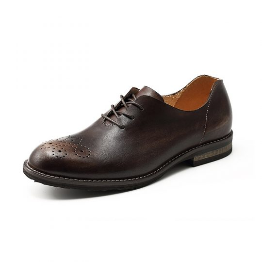 Wholecut Brogue Semi Oxford - Brown