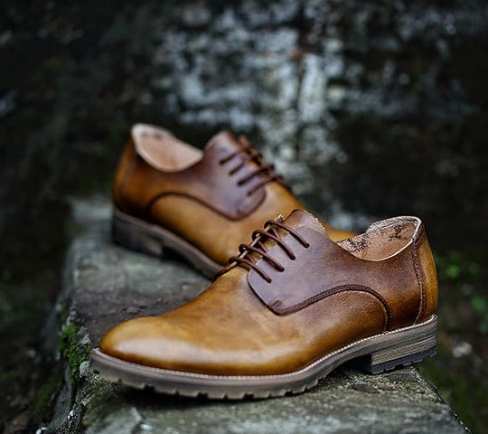 Plain Semi Derby Causal - Burnished Tan