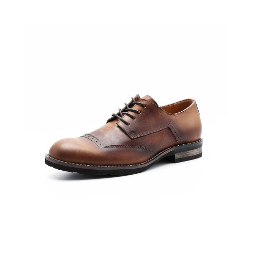 Brogue Semi Derby - Tan