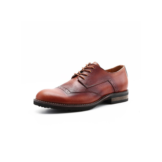 Brogue Semi Derby - Burgundy