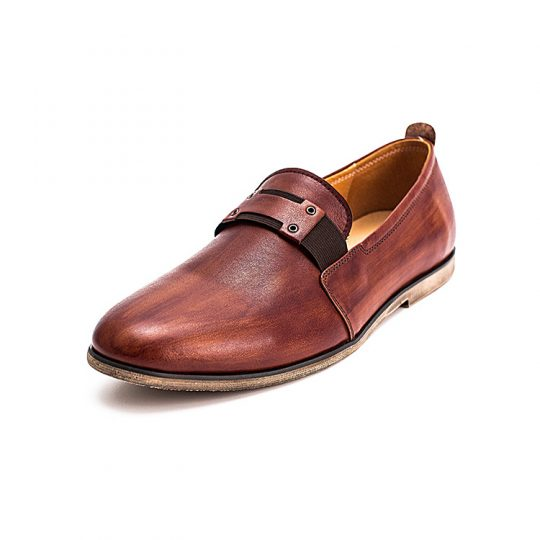 Causal Penny Loafers - Burnished Tan