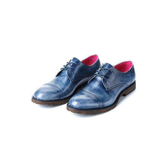 Plain Vintage Semi Derby - Blue