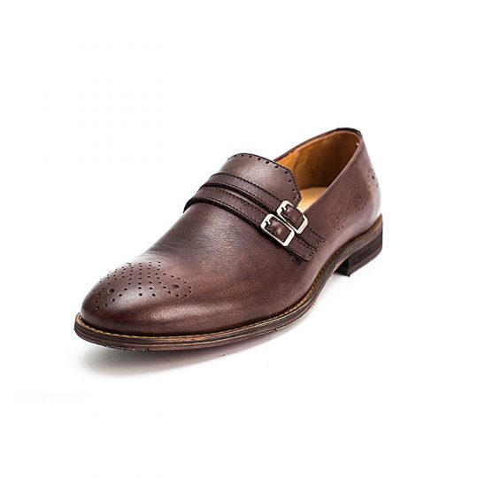 Brogue Double Monkstrap - Brown
