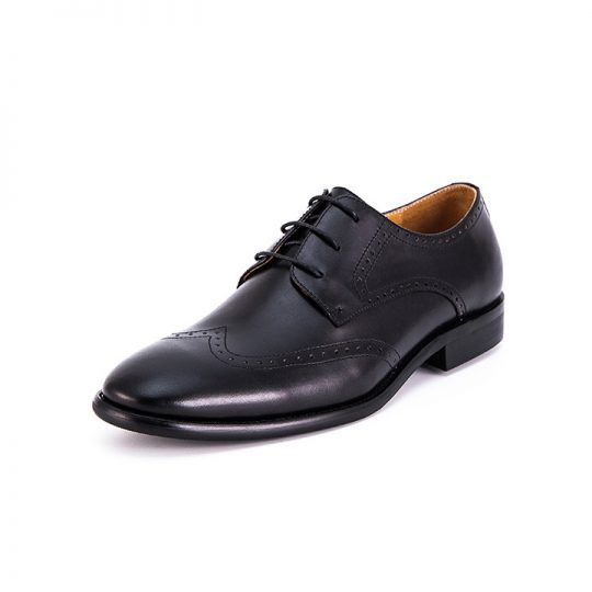 Brogue Wingtip Derby - Burnished Black