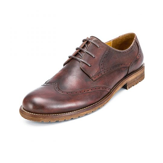 Brogue Wingtip Semi Derby - Dark Burgundy
