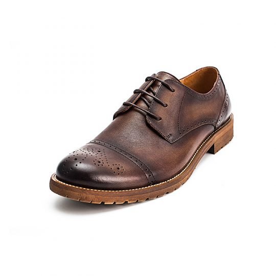 Brogue Semi Derby - Brown
