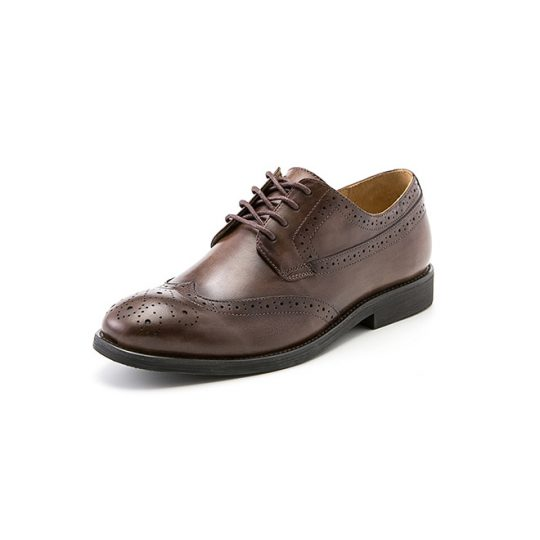Brogue Wingtip Semi Derby - Burnished Brown
