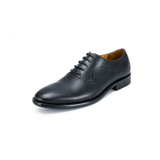Medallion Brogue Oxford - Pure Black