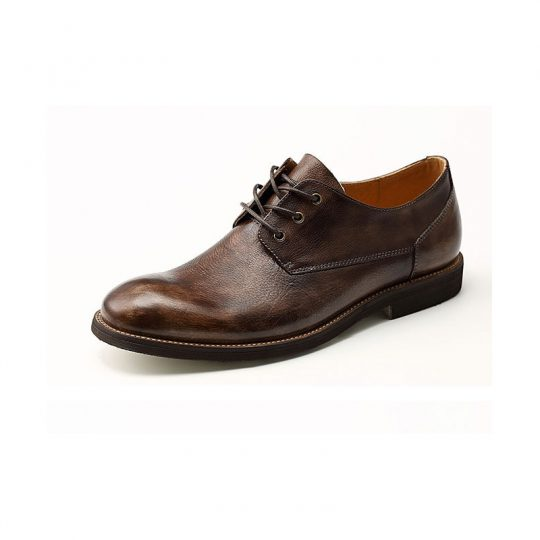 Plain Causal Semi Derby - Brown