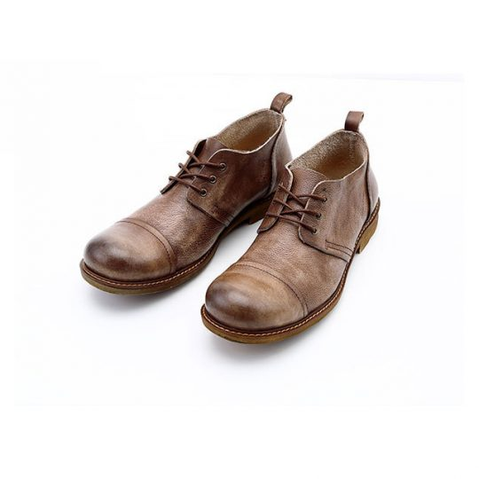 Spectator Causal Leather Shoes - Vintage Brown