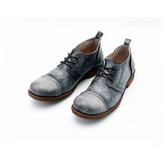 Spectator Causal Leather Shoes - Vintage Blue
