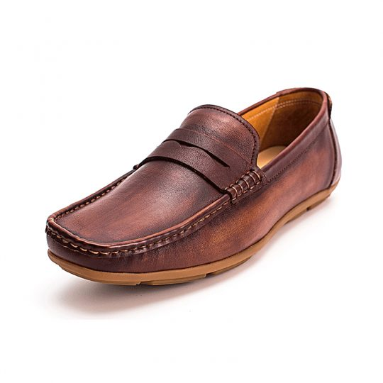 Square Penny Loafers - Tan
