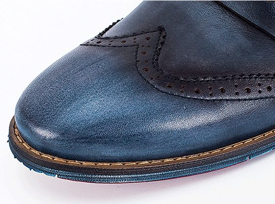 Wingtip Penny Loafers - Blue