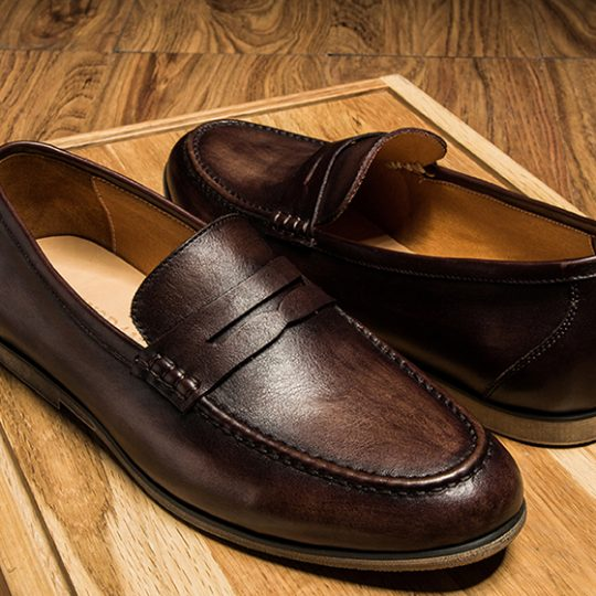 Plain Tassel Loafers - Burnished Tan
